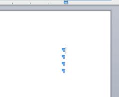 يمكن أن تؤدي علامات الفقرات الإضافية إلى صفحة فارغة