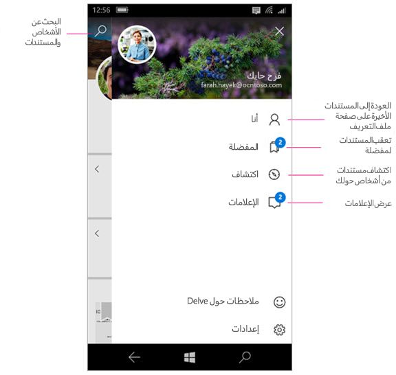 Delve لـ Windows Mobile