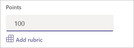 قم بإضافة نقاط أو معيار غير قياسي.