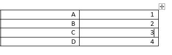 جدول في Word