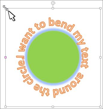 مثال لنص bended منتهي