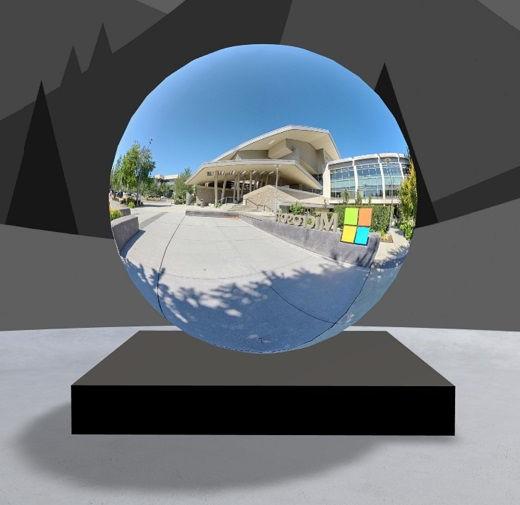 جزء ويب جولة 360 درجة مع صورة لمركز زائري Microsoft