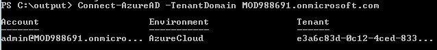 تسجيل الدخول اكسامنبلي استخدام بيانات اعتماد المسؤول.