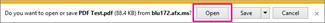 فتح ملف PDF