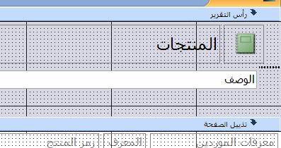 التقرير في طريقة عرض التصميم مع فاصل الصفحات
