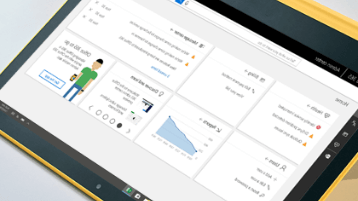 صورة لشاشة تعرض مركز إدارة Office 365