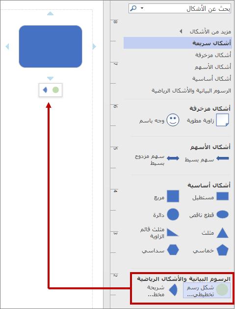 شريط الأدوات الصغير يستخدم استنسل جديد عند التحديد