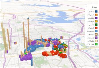 Power Map ذات النسق الافتراضي