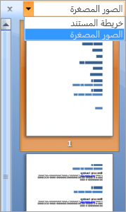 Thumbnails in the Document Map