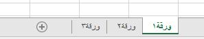 علامات تبويب ورقه عمل Excel في اسفل جزء Excel