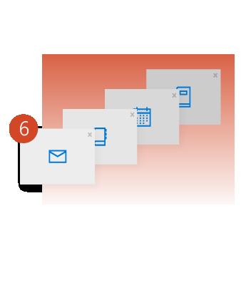 إنشاء عدة مجلدات لتخزين رسائل البريد الإلكتروني.