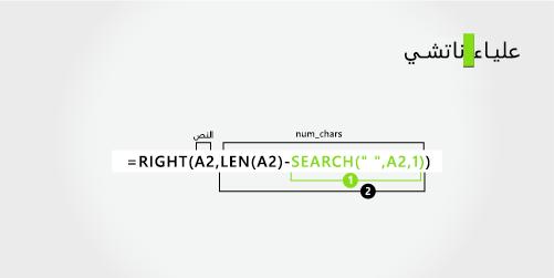 صيغه ل# فصل اسم الاول و# اسم عائله المكون من ثلاثه اجزاء