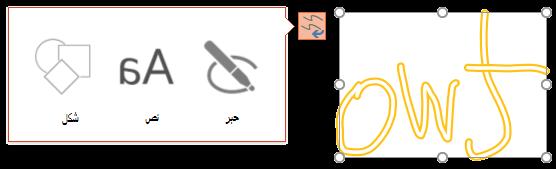 تحويل الحبر يعرض نوع الكائن الذي يمكنه محاولة تحويل الكائن المحدد اليه.