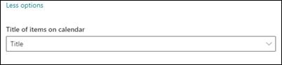 عنوان العناصر في التقويم