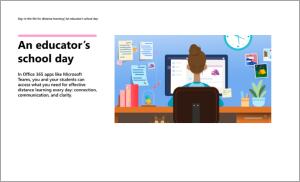 رسم توضيحي لشخص جالس على مكتب أمام جهاز كمبيوتر