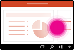 إيماءات تغيير الشرائح في PowerPoint for Windows Mobile