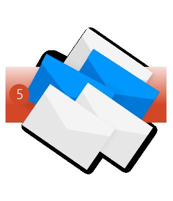 استخدام ميزة تنظيف المجلد لإزالة الرسائل الإضافية غير الضرورية.