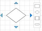 أسهم وشريط أدوات Visio AutoConnect