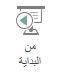 حدد من البدايه علي علامه التبويب عرض علي الشريط ل# بدء عرض الشرائح