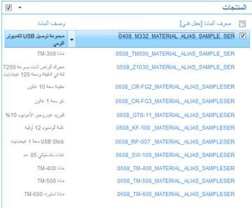 يعرض موقع المنتجات قائمة بالمنتجات في مكتبة SAP الخاصة بك.
