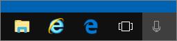 شريط ادوات Windows 10 مع ايقونات الحافه و IE