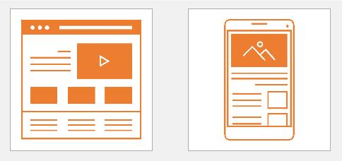 نظرة عامة على قوالب مواقع الويب والأجهزة المحمولة