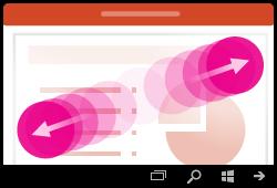 إيماءات التكبير في PowerPoint for Windows Mobile