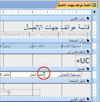 تقرير يحتوي على مربع نص مع معرّف يحتوي على أخطاء إملائية