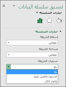 خيارات تسميه مخطط مخطط Excel