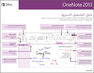 دليل البدء السريع لـ OneNote 2013