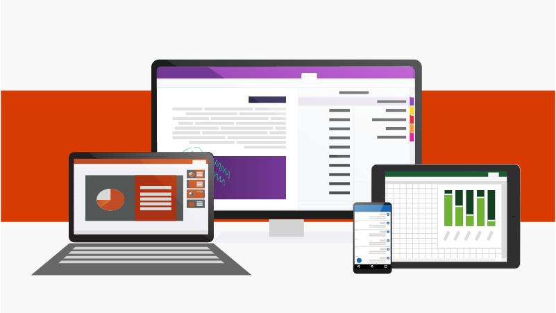 تطبيقات Office على أجهزة مختلفة