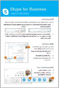 صورة مصغرة لحزمة دلائل البدء السريع لـ Skype for Business