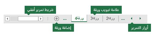 تظهر علامات تبويب الأوراق في excel أسفل جزء Excel