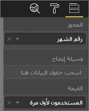 لقطة شاشة تعرض قيم الرسوم المرئية المخصصة