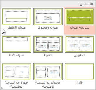 تخطيطات الشرائح في PowerPoint
