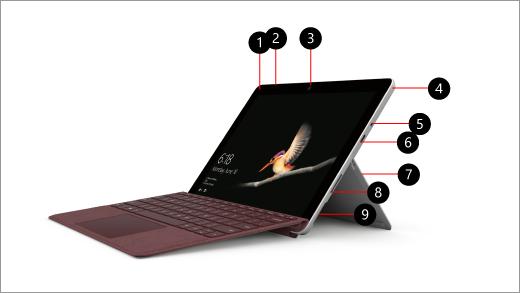 Surface Go مع وسائل شرح