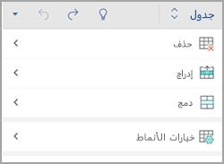 علامه التبويب جدول نظام التشغيل android