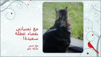 إظهار بطاقة صورة العيد