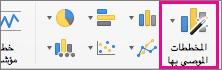 """أمر الشريط """"المخططات المستحسنة"""" في Excel for Mac"""