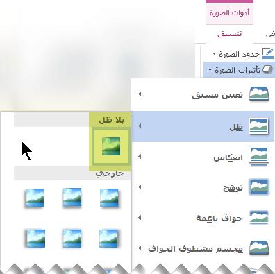 "ايقاف تشغيل تاثير صوره التي لا تريدها ب# اختيار خيار ""تاثير بلا""."