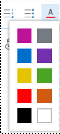 ضبط لون الخط في Outlook على الويب.