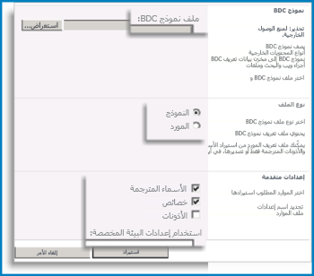 لقطة شاشة لطريقة عرض نموذج BCS.