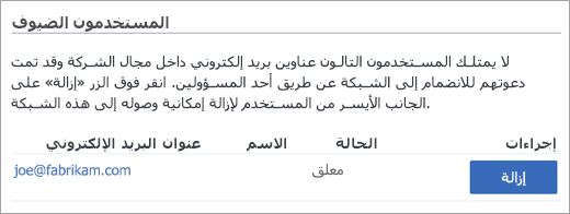 قائمه الضيوف معلقه