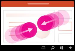 إيماءات التصغير في PowerPoint for Windows Mobile