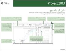 دليل البدء السريع لـ Project 2013