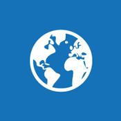صورة الكرة الأرضية على لوحة للإشارة إلى مفهوم موقع ويب عام