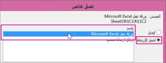 اختيار Microsoft Excel