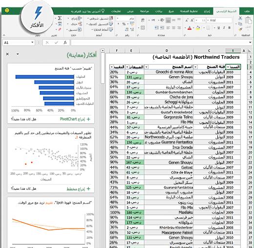 أفكار في Excel