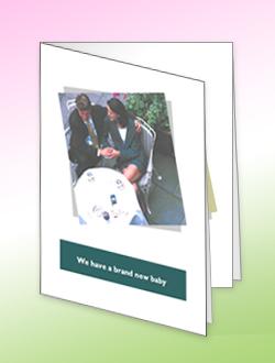 بطاقة ترحيب تم إنشاؤها في Microsoft Office Publisher 2007