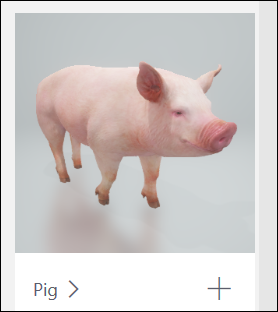 خنزير نموذج ثلاثي الابعاد